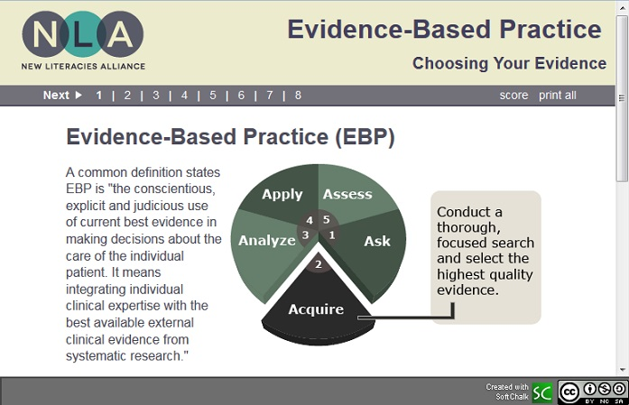 evidence-based practice lesson
