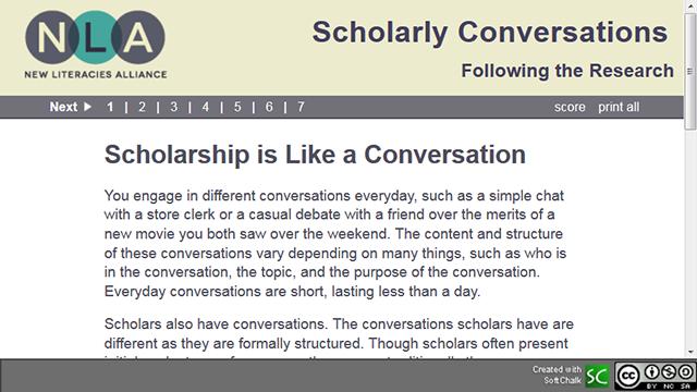 Scholarly Conversation